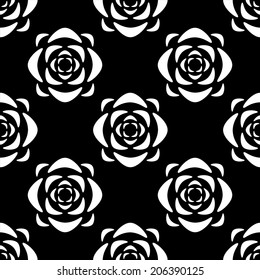 Royalty Free Black And White Floral Wallpaper Images Stock Photos