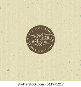Seamless pattern. Simple and realistic vector texture of cardboard.