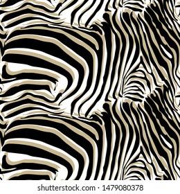 Seamless pattern - skin of a zebra, tiger.