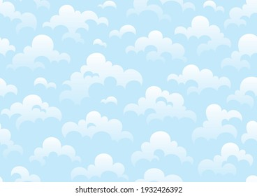 Seamless pattern of sky and clouds