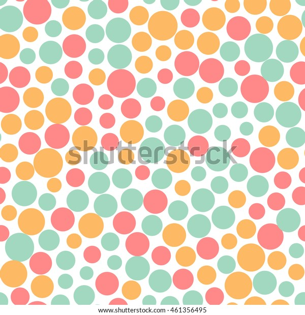 Seamless pattern with small colorful dots on a white background