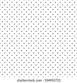 Seamless pattern in a small dot, polka dot in the style black on a white background.
