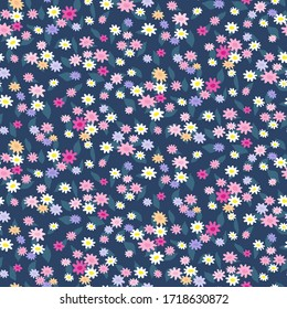 Seamless pattern of small flowers. Floral vector print