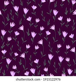 Seamless pattern of small flowers. Floral background