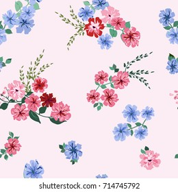 Pretty borders images stock photos vectors shutterstock seamless pattern in small pretty flowers liberty style millefleurs floral background for textile mightylinksfo