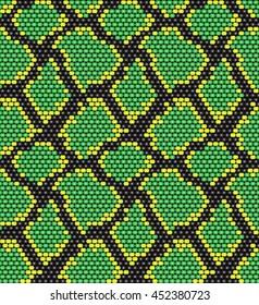 seamless pattern snake skin beads