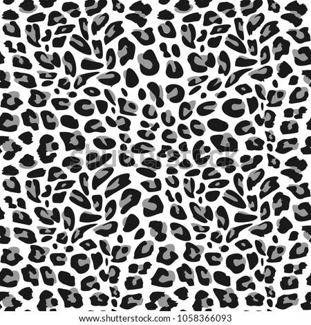 Seamless pattern snow leopard