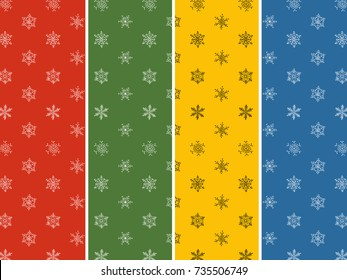 Seamless pattern - Snowflake vector pattern.