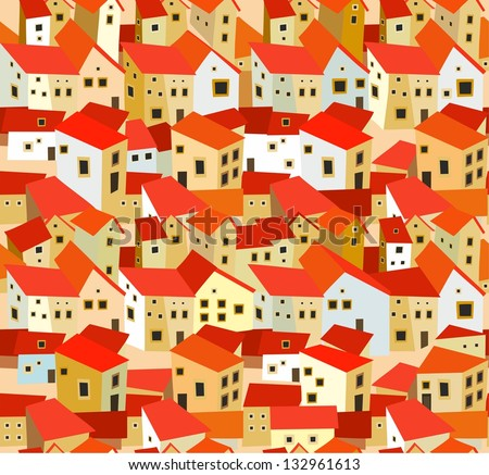 Seamless Pattern Spanish Houses Stock Vector Royalty Free Inspiration Pattern In Spanish