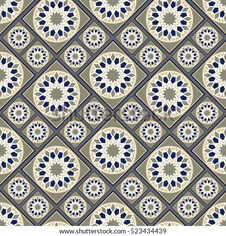 Seamless Pattern Spanish Style Spain Tilework Stock Vector Royalty Classy Pattern In Spanish