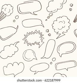 Seamless pattern speech bubbles . Vector illustration.