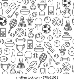 seamless pattern with sports icons