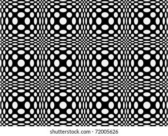 Seamless pattern of spots, 70's style