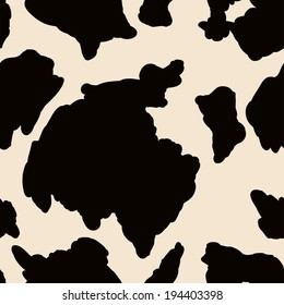 Seamless pattern with spots like the skin of a cow