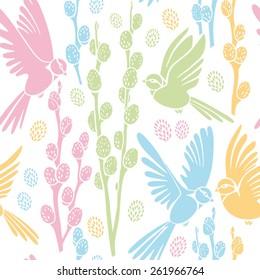 seamless pattern, spring