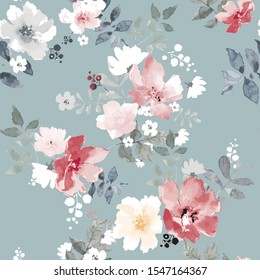 Seamless pattern with spring flowers. floral pattern for wallpaper or fabric