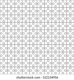 Seamless pattern. The square puzzle.