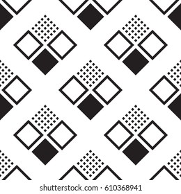 Seamless pattern with squares. Abstract background with a geometric figures. Vector EPS 10
