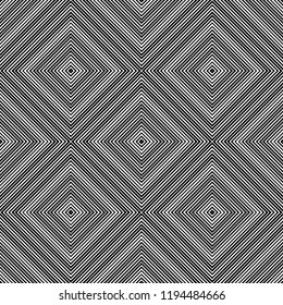 Seamless pattern of squares and rhombuses. Geometric background. Unusual lattice. Vector illustration. Good quality. Good design.