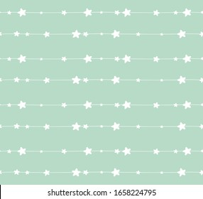 Seamless pattern with star/ baby collection