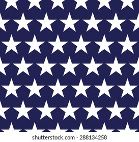 Seamless pattern with stars in American flag colors