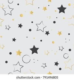 Seamless pattern with stars Kids background