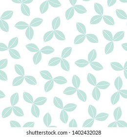 Seamless pattern of strawberry leaves . Vector illustration for printing on fabric, packaging paper, Wallpaper, poster, banner. Cute baby background.