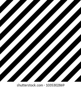 Seamless pattern with striped black white diagonal inclined lines. Optical illusion effect, op art. Vector vibrant decorative background, texture.