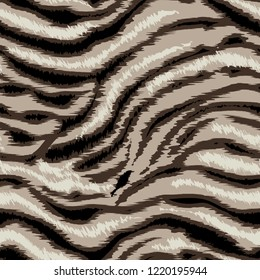 Seamless pattern striped skin of a tiger, zebra.