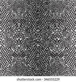 Seamless Pattern Structure Snake skin. Black and White Stencil.
