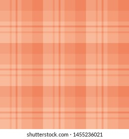 Seamless pattern in stylish light peach colors for plaid, fabric, textile, clothes, tablecloth and other things. Vector image.