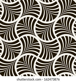 Seamless pattern. Stylish ornament. Geometric background. Vector repeating texture
