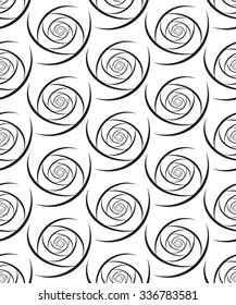 Seamless pattern with stylized roses