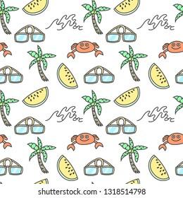 Seamless pattern summer