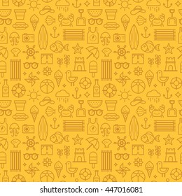 Seamless pattern with summer icons.