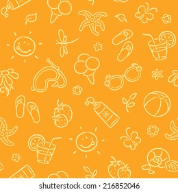 Seamless pattern with summer things