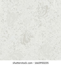 Seamless pattern. Swirling blots stained canvas.