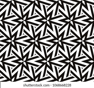 Seamless pattern with symmetric geometric ornament. Ornamental mosaic texture. Abstract background. Vector illustration.
