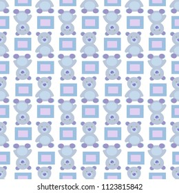 Seamless pattern with teddy bear design