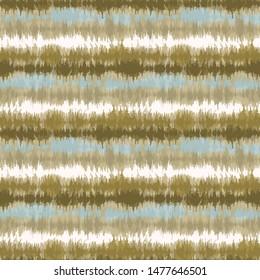 Seamless pattern tie dye shibori stripes. Colorful boho summer background. Vector textile retro swatch.