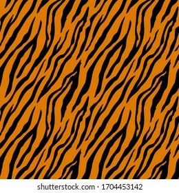 Seamless pattern with tiger stripes. Animal print.