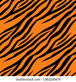 Seamless pattern with tiger stripes. Minimal texture, art print, background, design for cover, wallpaper, banner, poster