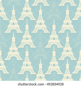 Seamless pattern with tower. Vector illustration.