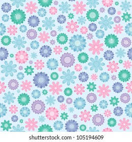 Seamless pattern with traditional floral ornament. Vector illustration.