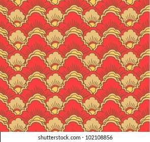 Seamless pattern in traditional japanese style #1