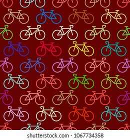 Seamless pattern with transport icons for your design
