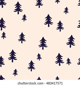 seamless pattern, tree art  background design for fabric and decor