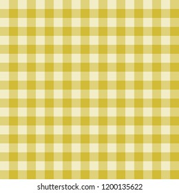 Seamless pattern with trendy stylish cell Gingham from mustard to the light yellow color.
