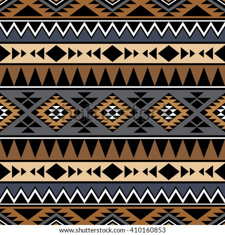 Seamless Pattern Tribal Aztec Motives Ethnic Vector De Stock