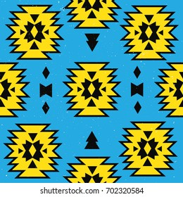 Seamless pattern Tribal ornament, navajo. Boho style